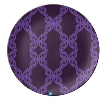 MAD TUUTURU L-Orig Purple Porcelain Plate