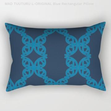 MAD TUUTURU L-Orig Blue Rectangle Pillow / Cushion