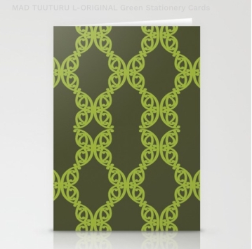 MAD TUUTURU L-Orig Green Stationery Cards