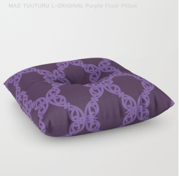 MAD TUUTURU L-Orig Purple Floor Pillow / Cushion