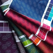 MAD + HH Collab - Mauriora Initial Design Fabric Proofs with Inka Design