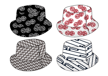 MAD + HH Collab - Aotearoa Collection 2018 - Bucket Hats