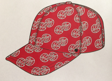 MAD + HH Collab - Aotearoa Collection 2018 - Mauriora Baseball Cap Red-White